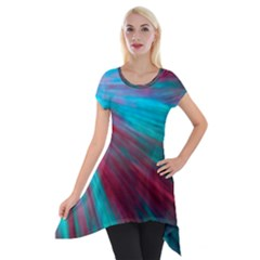 Background Texture Pattern Design Short Sleeve Side Drop Tunic
