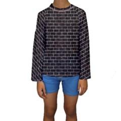 BRK1 BK-RW MARBLE Kids  Long Sleeve Swimwear by trendistuff