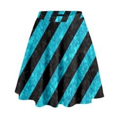 STR3 BK-TQ MARBLE High Waist Skirt by trendistuff
