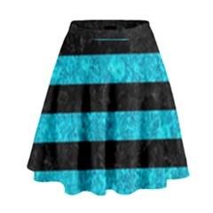 STR2 BK-TQ MARBLE High Waist Skirt by trendistuff