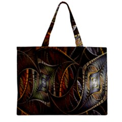 Mosaics Stained Glass Zipper Mini Tote Bag by Jojostore