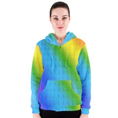 Rainbow Color Orange Yellow Green Purple Women s Zipper Hoodie by Jojostore