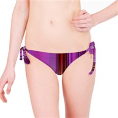 Purple Line Rainbow Bikini Bottom