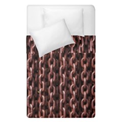 Chain Rusty Links Iron Metal Rust Duvet Cover Double Side (single Size) by Amaryn4rt