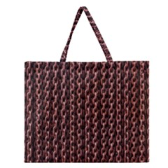 Chain Rusty Links Iron Metal Rust Zipper Large Tote Bag by Amaryn4rt
