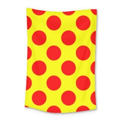 Red Circle Yellow Small Tapestry by Jojostore