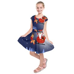 Santa Clause Kids  Short Sleeve Dress