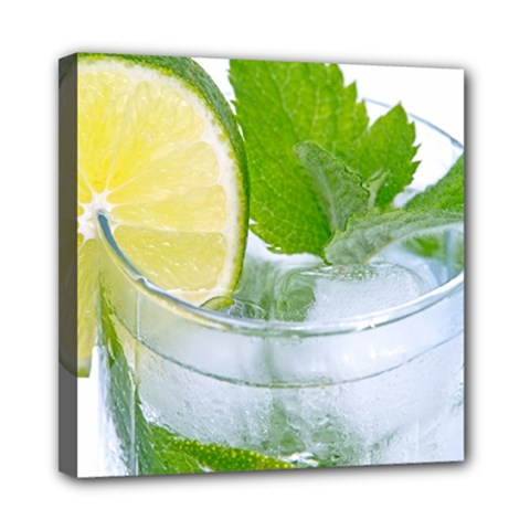 Cold Drink Lime Drink Cocktail Mini Canvas 8  X 8  by Amaryn4rt