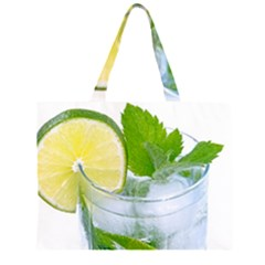 Cold Drink Lime Drink Cocktail Zipper Large Tote Bag by Amaryn4rt
