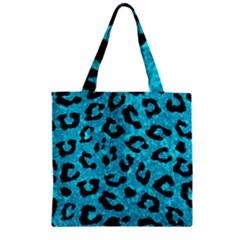 Skin5 Black Marble & Turquoise Marble Zipper Grocery Tote Bag by trendistuff