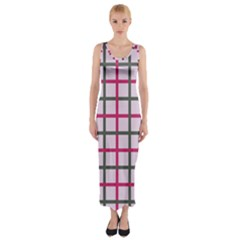 Tiles On Light Pink Fitted Maxi Dress by Jojostore