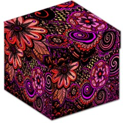 Sunset Floral  Flower Purple Storage Stool 12   by Jojostore