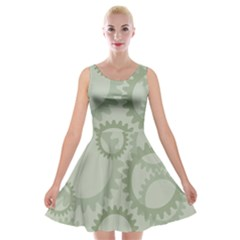 Engenerinhg Velvet Skater Dress by Jojostore