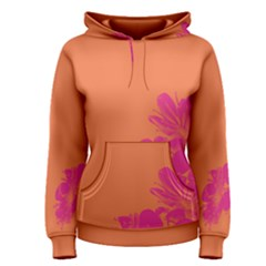 Flower Orange Pink Women s Pullover Hoodie by Jojostore