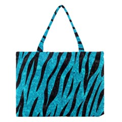 Skin3 Black Marble & Turquoise Marble (r) Medium Tote Bag by trendistuff