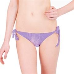 Flower Purple Gray Bikini Bottom