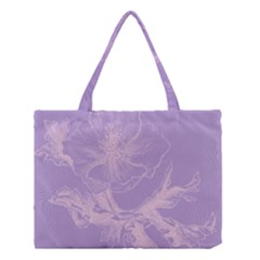 Flower Purple Gray Medium Tote Bag by Jojostore