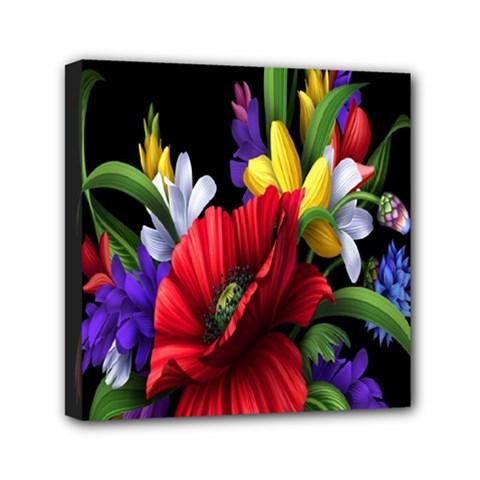 Flowers Bouquet Mini Canvas 6  X 6  by Jojostore