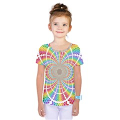 Color Background Structure Lines Kids  One Piece Tee by Amaryn4rt