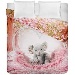 Elephant Heart Plush Vertical Toy Duvet Cover Double Side (california King Size) by Amaryn4rt