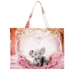 Elephant Heart Plush Vertical Toy Large Tote Bag by Amaryn4rt