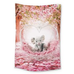 Elephant Heart Plush Vertical Toy Large Tapestry by Amaryn4rt