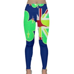 Irish Shamrock New Zealand Ireland Funny St  Patrick Flag Classic Yoga Leggings by yoursparklingshop
