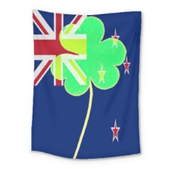 Irish Shamrock New Zealand Ireland Funny St  Patrick Flag Medium Tapestry by yoursparklingshop