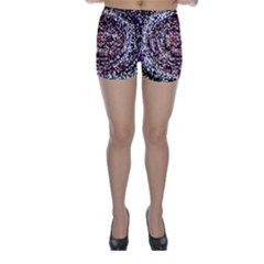 Mosaic Colorful Abstract Circular Skinny Shorts by Amaryn4rt