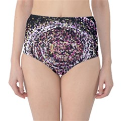 Mosaic Colorful Abstract Circular High Waist Bikini Bottoms by Amaryn4rt