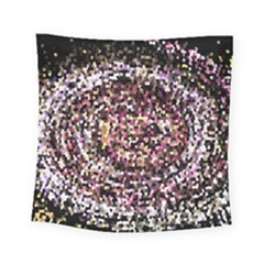 Mosaic Colorful Abstract Circular Square Tapestry (small) by Amaryn4rt