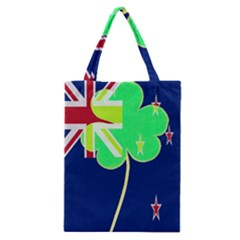 Irish Shamrock New Zealand Ireland Funny St Patrick Flag Classic Tote Bag by yoursparklingshop