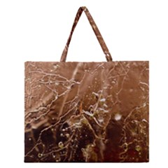 Ice Iced Structure Frozen Frost Zipper Large Tote Bag by Amaryn4rt