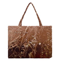Ice Iced Structure Frozen Frost Medium Tote Bag by Amaryn4rt