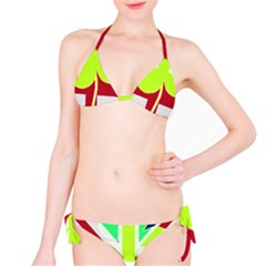Irish British Shamrock United Kingdom Ireland Funny St  Patrick Flag Bikini Set