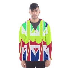 Irish British Shamrock United Kingdom Ireland Funny St  Patrick Flag Hooded Wind Breaker (men)