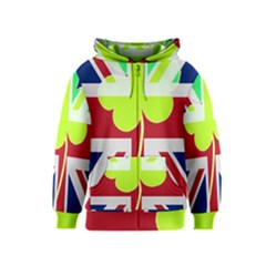 Irish British Shamrock United Kingdom Ireland Funny St  Patrick Flag Kids  Zipper Hoodie