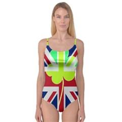 Irish British Shamrock United Kingdom Ireland Funny St  Patrick Flag Camisole Leotard  by yoursparklingshop