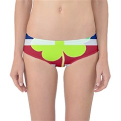 Irish British Shamrock United Kingdom Ireland Funny St  Patrick Flag Classic Bikini Bottoms