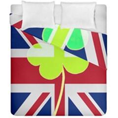 Irish British Shamrock United Kingdom Ireland Funny St  Patrick Flag Duvet Cover Double Side (california King Size) by yoursparklingshop