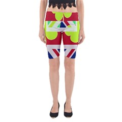 Irish British Shamrock United Kingdom Ireland Funny St  Patrick Flag Yoga Cropped Leggings