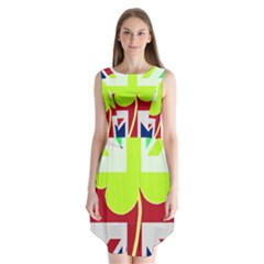 Irish British Shamrock United Kingdom Ireland Funny St  Patrick Flag Sleeveless Chiffon Dress