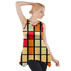 Mozaico Colors Glass Church Color Side Drop Tank Tunic by Amaryn4rt