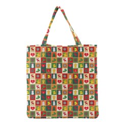 Pattern Christmas Patterns Grocery Tote Bag by Amaryn4rt