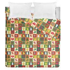 Pattern Christmas Patterns Duvet Cover Double Side (Queen Size) by Amaryn4rt