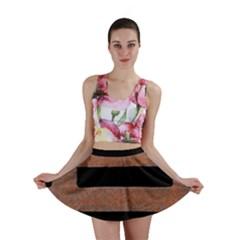 Stainless Rust Texture Background Mini Skirt