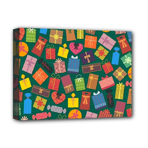 Presents Gifts Background Colorful Deluxe Canvas 16  X 12   by Amaryn4rt