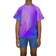 Vector Blend Screen Saver Colorful Kids  Short Sleeve Swimwear by Amaryn4rt