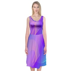 Vector Blend Screen Saver Colorful Midi Sleeveless Dress by Amaryn4rt