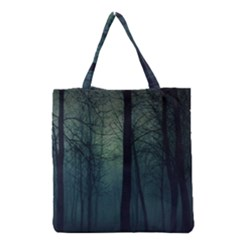Dark Night Forest Grocery Tote Bag by Brittlevirginclothing